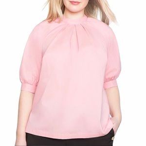 Eloquii Women's Pleated Top Blouse Pink Sz 16